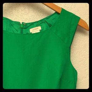 Leaf green J. Crew shift dress